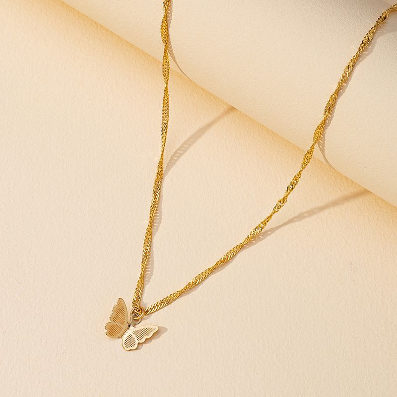 hot sale popular new butterfly necklace wholesale NHGU257394