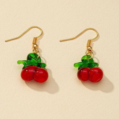 Pendientes populares vendedores calientes de la fruta de la cereza de la moda al por mayor NHGU257392's discount tags