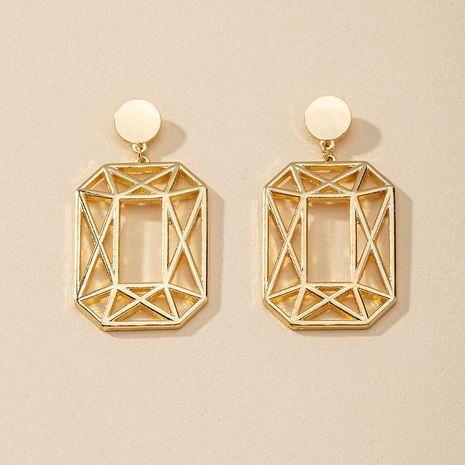 Pendientes geométricos vendedores calientes del metal de la moda al por mayor NHGU257402's discount tags