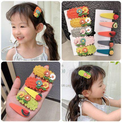 Hot selling children's hair accessories sun flower fruit cute hair clip NHPJ257413