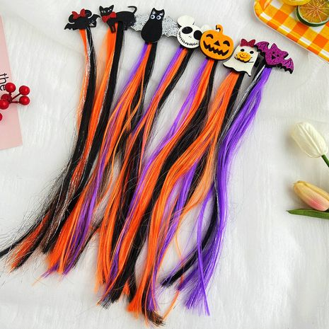 Halloween color wig hairpin creative retro funny Halloween hair accessories wholesale NHPJ257415's discount tags