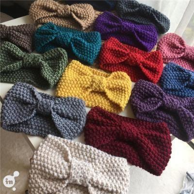Fashion  knitted wool wide headgear bowknot headband  NHOF257424's discount tags