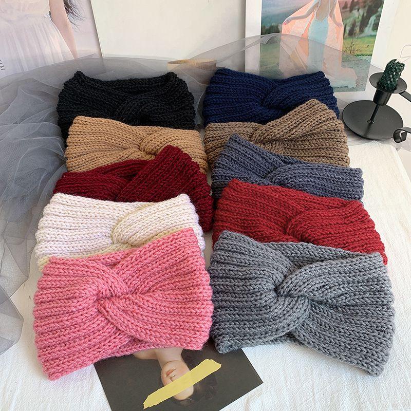 Bandeau en laine tricote chaude pour enfants mignons en gros NHOF257426