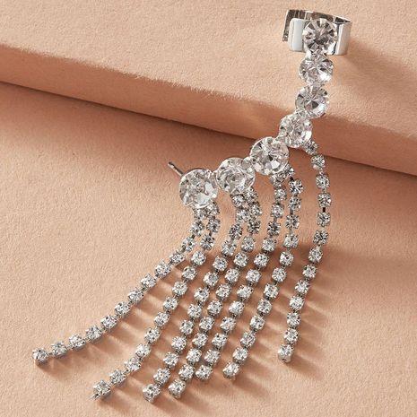 Fashionable Simple Full Diamond Tassel Pendant Geometric Earrings NHGY257437's discount tags