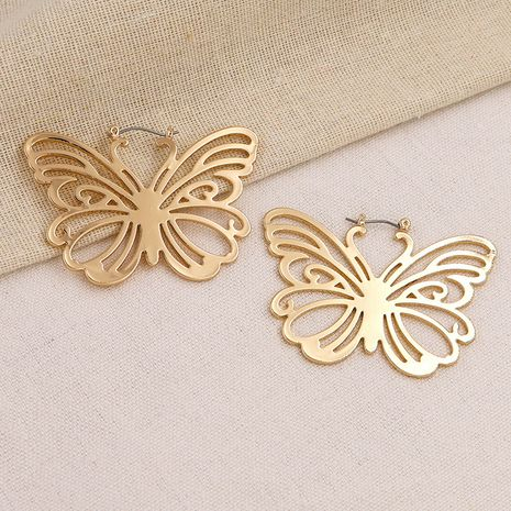 popular metal texture butterfly earrings hot-selling  wholesale NHGU257541's discount tags
