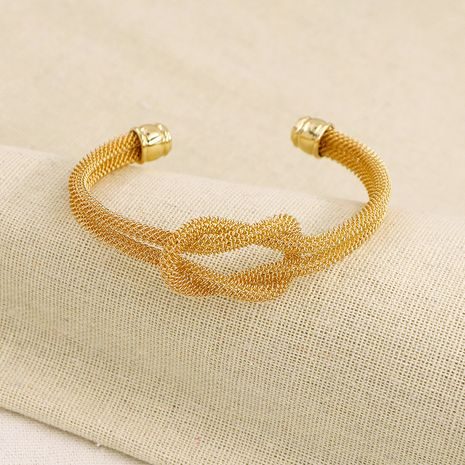 Hot selling fashion metal texture open bracelets wholesale NHGU257542's discount tags