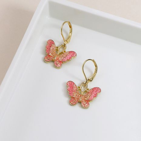 gold dripping butterfly earrings  wholesale NHGU257543's discount tags