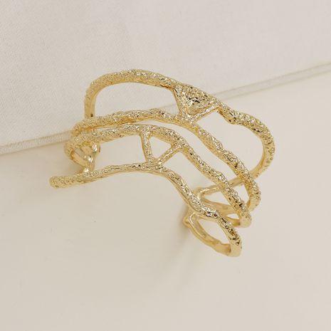 Vente en gros de bracelet de texture en métal de mode de vente chaude NHGU257568's discount tags