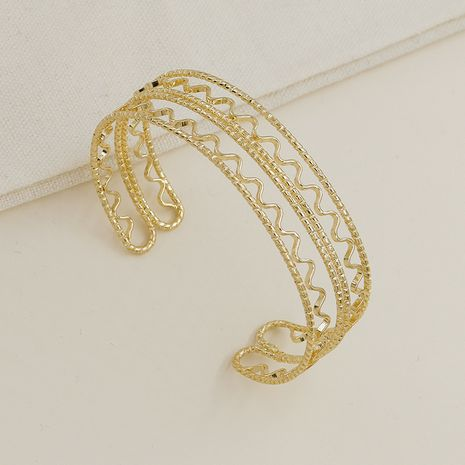Hot selling Fashion Gold Line Texture Bracelet wholesale NHGU257569's discount tags