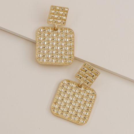 Nuevos pendientes populares vendedores calientes de la aleación de la textura del metal al por mayor NHGU257592's discount tags