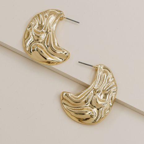 Pendientes geométricos populares vendedores calientes de la textura del metal de la moda al por mayor NHGU257595's discount tags