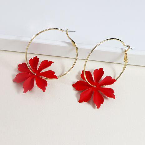 Pendientes populares vendedores calientes de la flor de la pintura del metal al por mayor NHGU257602's discount tags