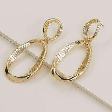 Pendientes vendedores calientes de la textura del metal de la moda al por mayor NHGU257604's discount tags