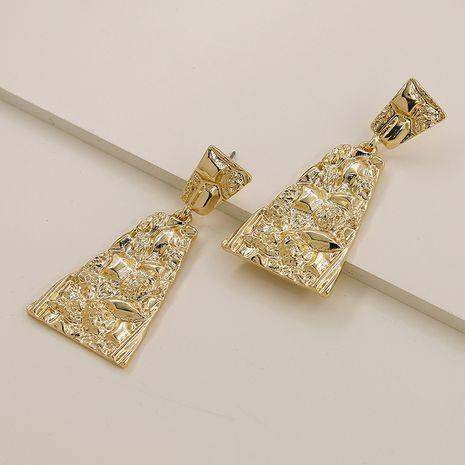 Nuevos pendientes populares vendedores calientes de la textura del metal de la moda al por mayor NHGU257605's discount tags