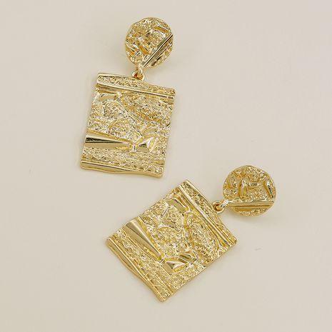 Pendientes geométricos vendedores calientes de la textura del metal de la moda al por mayor NHGU257607's discount tags