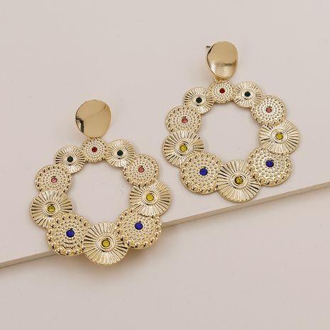 Pendientes de diamantes con textura de metal popular de moda vendedora caliente al por mayor NHGU257611's discount tags