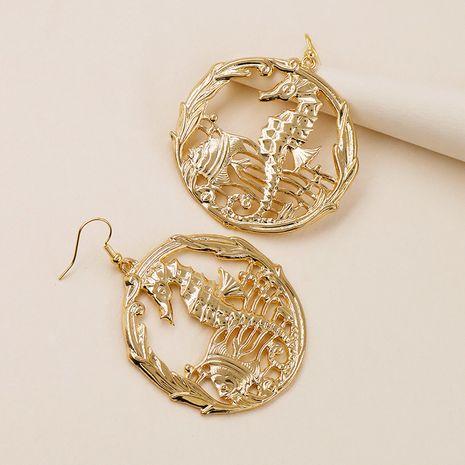 pendientes de textura de metal de moda NHGU257627's discount tags