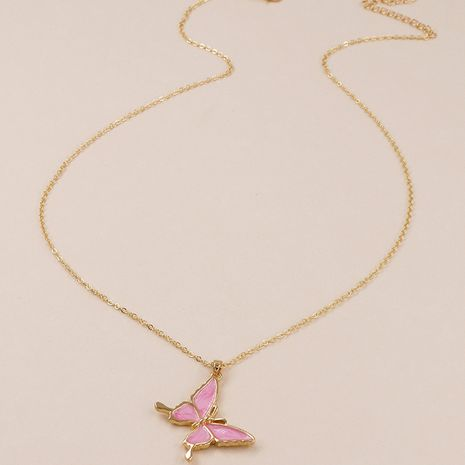 popular new metal dripping butterfly necklace wholesale NHGU257628's discount tags