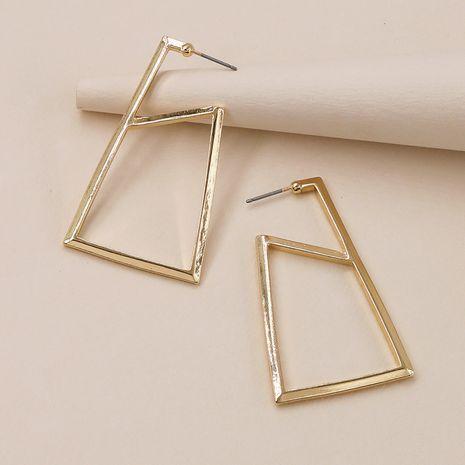 nouvelles boucles d'oreilles géométriques à texture métallique NHGU257630's discount tags