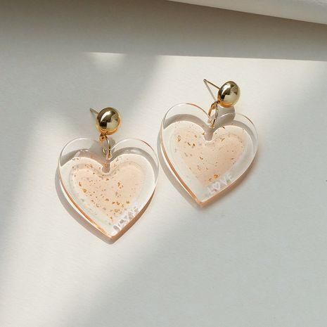 nuevos pendientes de amor de acrílico transparente NHGU257635's discount tags