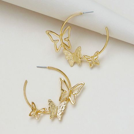 Hot selling popular butterfly element earrings wholesale NHGU257646's discount tags