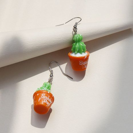 Pendientes populares vendedores calientes del cactus de la planta al por mayor NHGU257647's discount tags