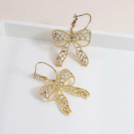 Pendientes de diamantes de arco de metal vendedores calientes al por mayor NHGU257667's discount tags