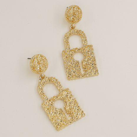 Pendientes vendedores calientes de la textura del metal de la moda al por mayor NHGU257683's discount tags