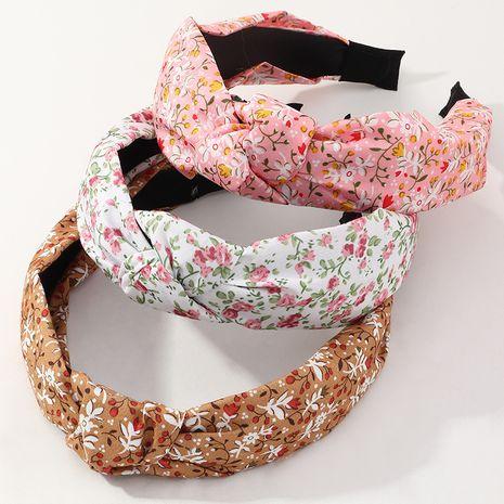 nuevo conjunto de diadema con estampado de gasa y diadema floral de tela NHNU257684's discount tags