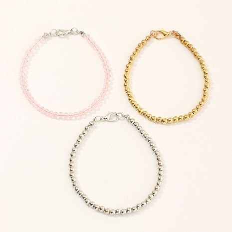 Fashion beaded rose gold bracelet three-piece set wholesale NHNU257685's discount tags