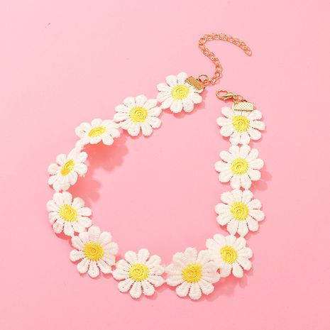 Hot selling children's fashion daisy flower necklace NHNU257688's discount tags