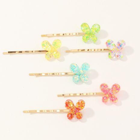 nuevo conjunto de horquillas de color caramelo de mariposa NHNU257692's discount tags