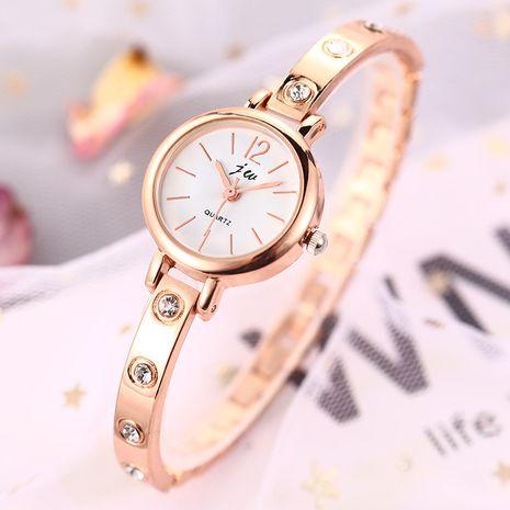 Reloj tachonado de diamantes con pulsera de cuarzo y banda de acero fino de aleación de moda NHSS257694's discount tags