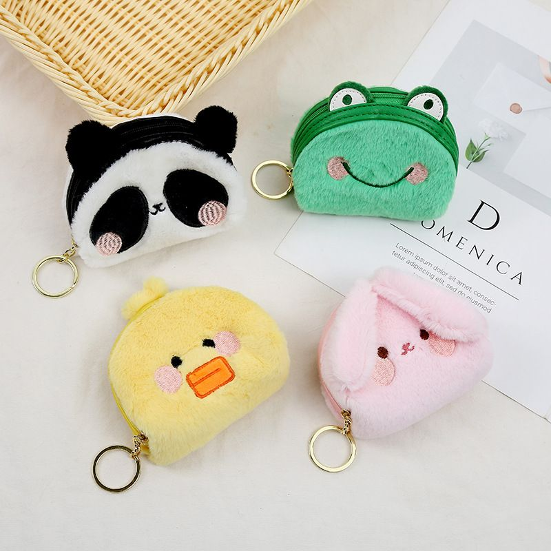 Hot selling ladies animal plush coin purse cartoon girl heart storage coin purse wholesale NHAE257700