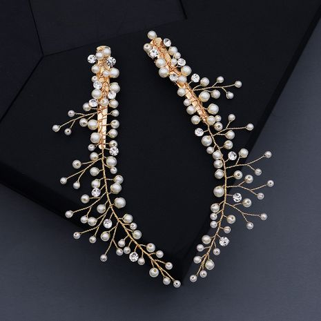 Hot selling fashion creative pearl bride wedding headdress wholesale NHHS257709's discount tags