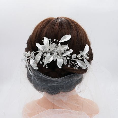 Hot selling beautiful bridal temperament pearl handmade headdress NHHS257710's discount tags