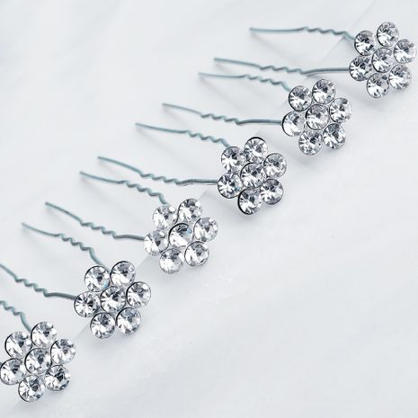 bridal headdress simple flower U-shaped hairpin accessories wholesale NHHS257717's discount tags
