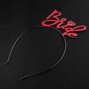 girls birthday hair band letter headgear  cute  accessories wholesale NHHS257722