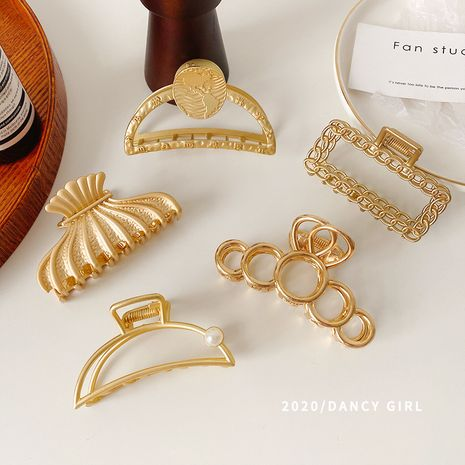 Hot selling fashion metal catch clip retro women's hair clip wholesale NHCQ257737's discount tags