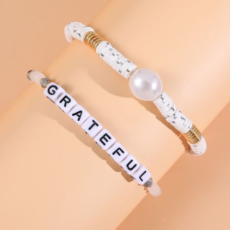 Hot selling handmade ethnic letter crystal bead bracelet wholesale NHLL257742's discount tags