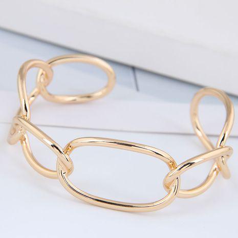 bracelet de personnalité tressé simple en métal de mode NHSC257840's discount tags