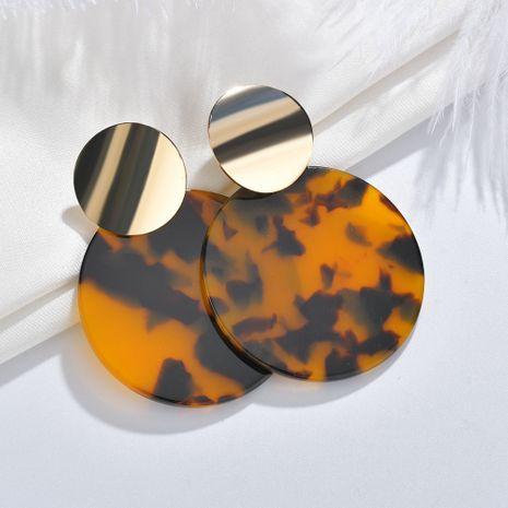 Boucles d'oreilles pendantes rondes géométriques avec pendentif léopard en acétate NHBQ257838's discount tags