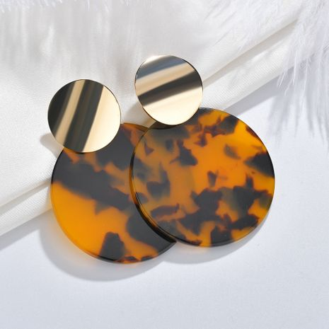 Fashion acetate  hoop leopard pendant geometric round hanging earrings  NHBQ257838's discount tags
