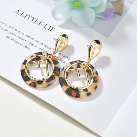 exaggerated letter  new fashion personality F letter cold wind big circle earrings  NHBQ257835's discount tags