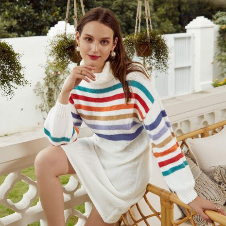 Fashion stripe women's sweaters wholesale NHDE257813's discount tags