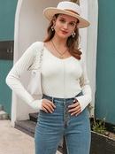 Fashion new simple allmatch retro womens sweater wholesale NHDE257816
