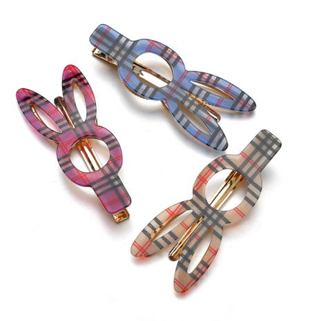 cute colorful acetate rabbit shape hair clip  NHBQ257831's discount tags