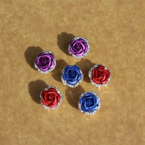 fashion Valentine's Day rose plant flower earrings  wholesale NHAN257856's discount tags