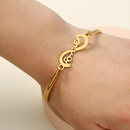 hotselling new series true gold stainless steel accessories simple letter alloy bracelet NHAN257866