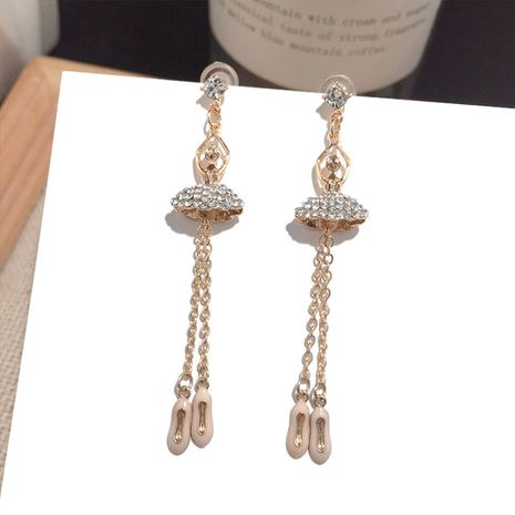 Nuevos pendientes de aguja de borla larga de plata al por mayor NHFT257870's discount tags